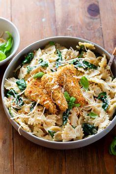 Pasta Florentine, Vegan Lunches, Vegan Snacks, Vegan Desserts, Vegan Pasta, Vegan Breakfast Recipes, Delicious Vegan Recipes, Dairy Free Recipes, Plant Based Recipes