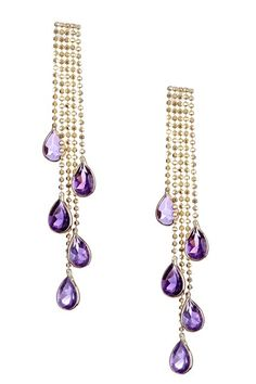 Jewelmak Dangling Amethyst Chandelier Earrings by Non Specific on @HauteLook