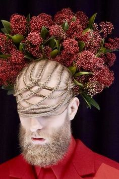 + Floral Fashion, Red Fashion, Portrait Photography, Fashion Photography, Bloom Where Youre Planted, Conceptual Fashion, Crazy Outfits, Beltane, Good Hair Day