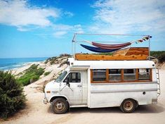 Tinyhomelivingsolutions on Road trip. Imagine stargazing on that roof deck! (tinyhomelivingsolutions ) for more! Bus Life, Camper Life, Happier Camper, Suv Camper, Motorhome, School Bus Camper, Bus Living, Short Bus, School Bus Conversion