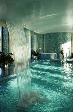 Fancy indoor swimming pool