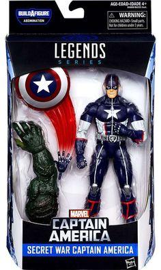 Hasbro Disney Marvel Marvel Legends Infinite Captain America Civil War: Abomination Series: Secret War Captain America Action Figure 6 Inches Tall in Box with Accessories Hasbro, Disney & Marvel 2016