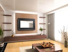 Simple Ideas: Floating Shelves Tv Wall Mounted Tv floating shelf for tv tv units.White Floating Shelves Bathroom floating shelves next to tv floors.Floating Shelves Above Couch Bedrooms. Floating Shelves Bedroom, Wooden Floating Shelves, Floating Shelves Kitchen, Tv Wall Panel, Wood Panel Walls, Wood Paneling, Paneling Ideas, Wall Tv, Wall Shelving