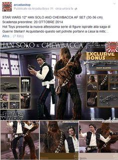 "ARCADIA Shop: STAR WARS 12"" HAN SOLO AND CHEWBACCA AF SET"