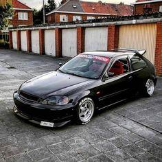 The black one! Ek hatchback JDM all day