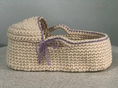 Baby doll moses basket crochet Baby doll bassinet Doll cradle