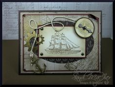 The Open Sea - Steampunk - S.U. Style by SandiMac - Cards and Paper Crafts at Splitcoaststampers