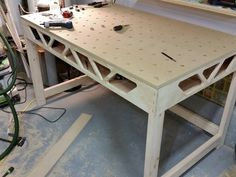Instant Access To Woodworking Designs, DIY Patterns & Crafts Paulk Workbench, Folding Workbench, Workbench Plans, Woodworking Workbench, Woodworking Workshop, Woodworking Furniture, Woodworking Projects Plans, Industrial Workbench, Workbench Designs