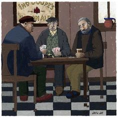 David Day Artist - Painting of Card Players, Limited Edition Art ...
