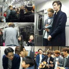"""CNBLUE promotes new album """"Can't Stop"""" to people around Seoul in person."""