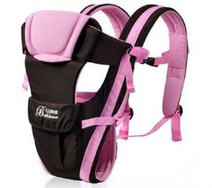 Front Back Baby Kid Toddler Infant Child Newborn Carrier Sling Wrap Pouch Hipseat Braces Backpack Strap Safety Harness Comfort Bag Gear Rider Pink ** More info could be found at the image url.