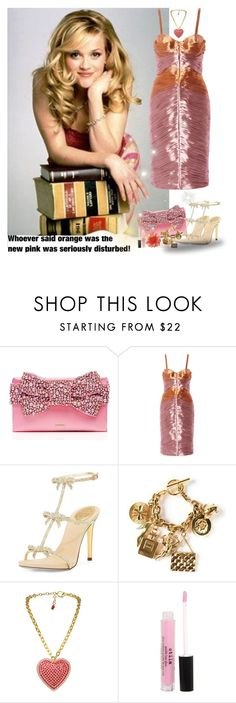 """""""Legally Blonde: Elle Woods"""" by priscilla12 ❤ liked on Polyvore featuring Kate Spade, Burberry, René Caovilla, Chanel, Michelle Roy, Tarina Tarantino, Stila, women's clothing, women and female"""