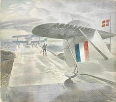 Walrus Aircraft on the Slipway, 1941 (painted whilst Ravilious was stationed with the Fleet Air Arm in Dundee)