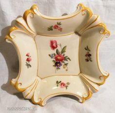 Német Jlmenau porcelán tál  /  négyszögletű