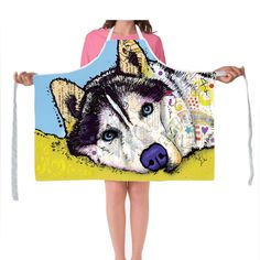 Our Premium Apronsare made with durable, lightweight, machine washable Polyesterfabric. Each apronfeatures a full print front with adjustable strapsand you