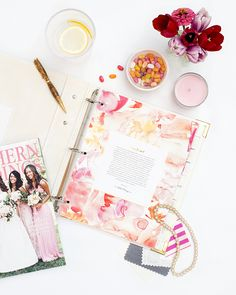 Southern Weddings Planner. Product Photography and Styling by Shay Cochrane for the Southern Weddings Shop.