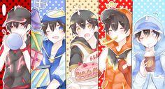 HAHAHA i know it was hella late but fogive me please! Happy late Birthday my son(s) huehue wish you all will getting more cute, shota and cutiepi. HBD BoboiBoy(s)! Boboiboy Anime, Anime Demon, Anime Chibi, Anime Art, Anime Galaxy, Boboiboy Galaxy, Naruto Akatsuki Funny, Pokemon Comics, Anime Version