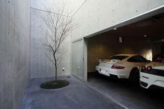 - 車についてのすべて(Everything About The Car) Garage House, Car Garage, Garage Design, House Design, Modern Carport, Arch Interior, Garage Lighting, Luxury Garage, Parking Design