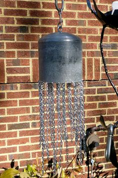 Scuba diver diving tank bell yard art on Etsy, $75.00
