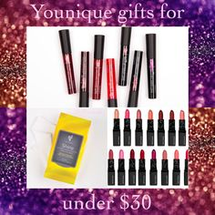 Younique has gifts for all budgets: here are some special girfts for under $30. www.beurownkindofbeautiful.com