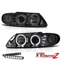 >> LED LIGHT BAR KIT<< 2004-06 Pontiac GTO [SMOKE LEN] Halo Projector Headlight #VIPMOTOZ