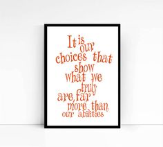 Harry Potter Dumbledore Quote Inspirational New by mixarthouse