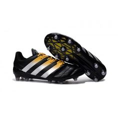 promo code a628e fca34 Adidas Ace 16.3 FG AG Mens Football Boots Black White Gold Indoor Soccer  Cleats, Mens