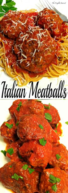 Italian Meatballs ~ The Complete Savorist A blend of ground beef and pork and herbs. Delicious on their own or with your favorite sauce.