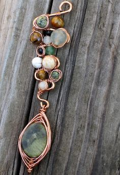 Easy and fun wire wrapped pendant in copper. Idea photo only.