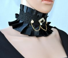 Black Victorian necklace. Gothic Bridal Necklace by Blackpassion