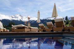 Aussenpool mit herrlichem Bergpanorama-Blick Wellness Spa, Sauna, Opera House, Massage, Outdoor, Building, Patio, Air Fresh, Outdoors