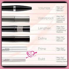 Find the best Mascara for your lashes... Lash Love Waterproof Lengthening  Ultimate volume. Lash & Brow Building Serum Lash Primer