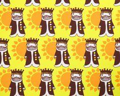 Aurinkokunkku by Leena Renko for Verson Puoti Printing On Fabric, Kids Outfits, Print Fabrics, Cool Stuff, Design, Fabrics, Cool Things, Fabric Printing, Design Comics
