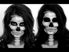 Skeleton Halloween Makeup Tutorial - YouTube