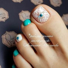 Toe nail art will attract much attention to your feet. Use these wonderful nail art ideas and your creativity to get the perfect result. Pedicure Designs, Pedicure Nail Art, Toe Nail Designs, Toe Nail Art, Beach Pedicure, Pedicure Ideas, Blue Pedicure, Pedicure Colors, Nails Design
