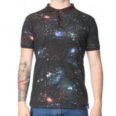 New Love Club Spaced Polo T-Shirt