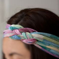 Tシャツから作る編みヘアバンドの作り方