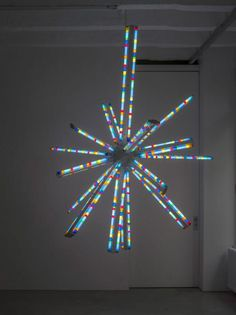 SPENCER FINCH: 49 Years Ago (Starlight), 2011, fluorescent lamps, fixtures, filters and aluminu, Diameter 274 cm / 9 ft