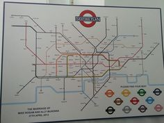 Another awesome London Underground themed wedding seating plan.