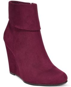 Report Riko Cuffed Wedge Booties - Boots - Shoes - Macy's
