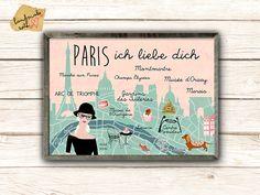 A3  Paris - mon amour Poster von VintagePaperGoods - GreenNest auf DaWanda.com