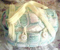 Free pattern  Ravelry: #3 Single Crochet Diaper Bag pattern by Bernat Design Studio
