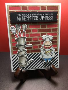 Chef card - Chef holiday card - Chef appreciation card - Handmade card for chefs - Card for cook - Card for baker - Love chef card Funny Cards, Cute Cards, Diy Cards, Funny Birthday Cards, Birthday Greeting Cards, Birthday Wishes, Birthday Cake, Happy Birthday Chef, Appreciation Cards