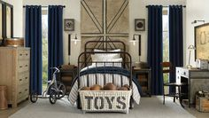 The beauty of vintage is that it never goes out of style. The vintage inspired pieces in this room by Restoration Hardware Baby & Child are sure to last for many years.