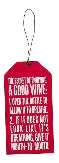 Secret of enjoying wine