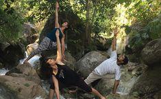 #Ekattva organizes nature walk to help students rejuvenate after rigorous#yoga #trainingover the weekdays.