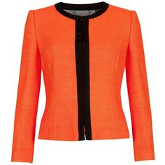 Ted Baker Hazelle Neon cropped jacket ($255) ❤ liked on Polyvore