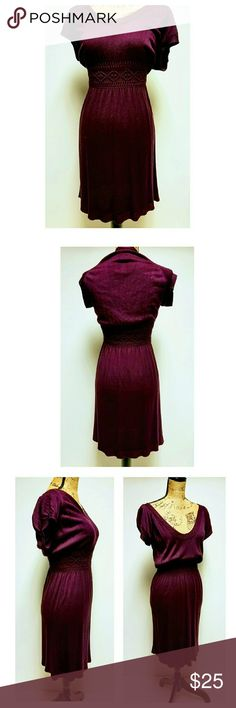 "NEW MAX STUDIO SWEATER DRESS Beautiful royal purple/plum sweater dress by Max Studio. Size M.  Approximate measurements: length 39"", waist 12"" bust 16"". NWT. Max Studio Dresses"
