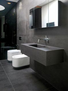 Full-body porcelain stoneware wall/floor tiles 120 concrete by @dsgceramiche
