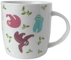 Puckator MUG178 Funky Mug-Porcelain-sloth: Amazon.co.uk: Kitchen & Home